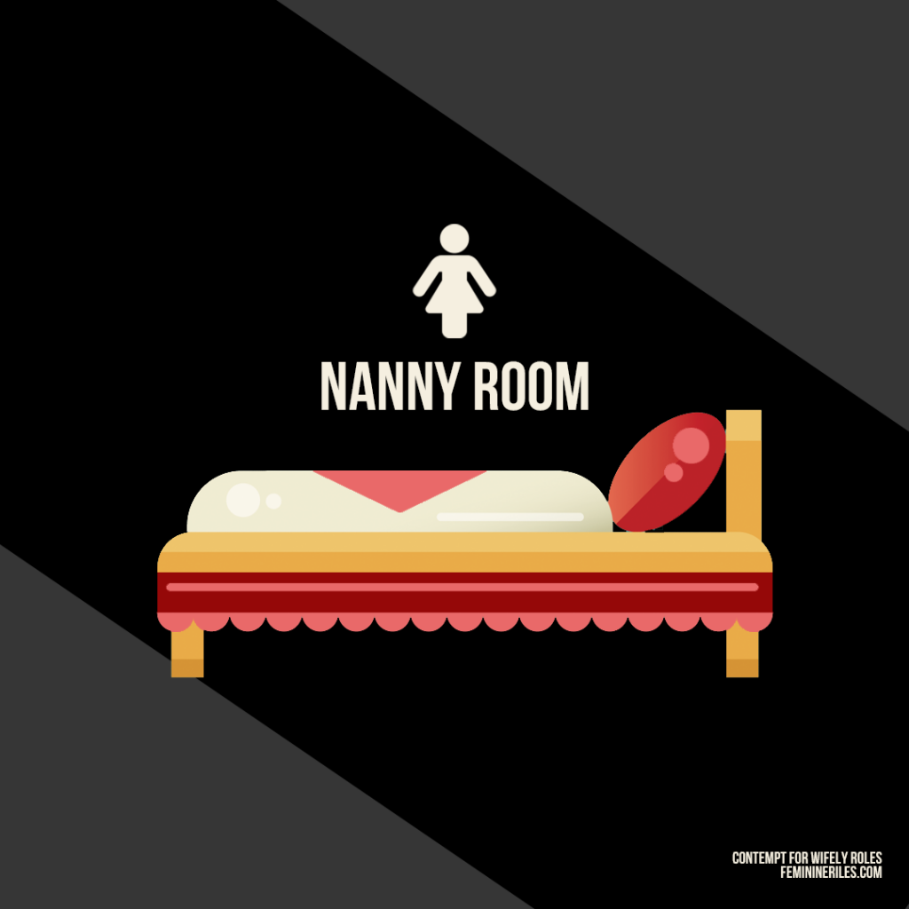 "Nannys often get the worst room in the house. What a way to show our appreciation for their ""motherly duties""."